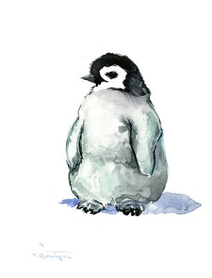Painting - Baby Penguin by Suren Nersisyan