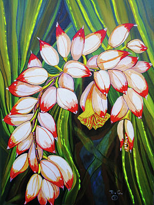 Painting - Baby Pink Shell Ginger by Debbie Chamberlin