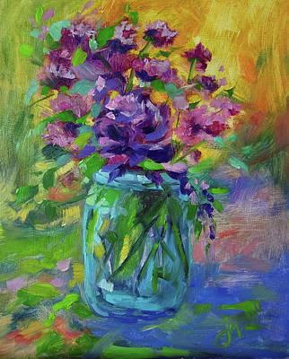 Painting - Baby Purple Mums by Jeri McDonald