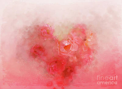 Floribunda Digital Art - Baby Rose Garden by Anita Faye