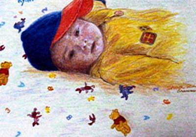 Painting - Baby Ryan by Sharon Casavant