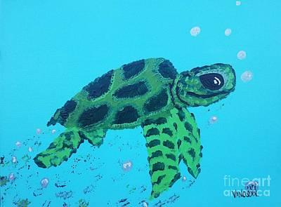 Painting - Baby Sea Turtle by Scott D Van Osdol