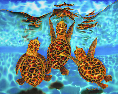 Baby Sea Turtles Art Print by Daniel Jean-Baptiste