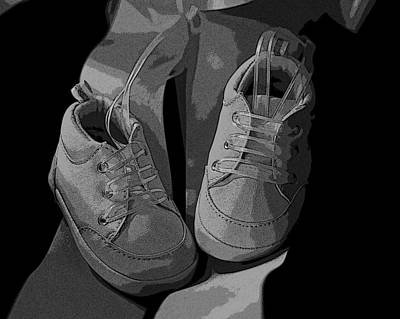 Baby Shoes Art Print by Deborah Williams