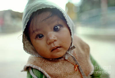 Photograph - Baby Staring In Contemplation Of The Future, Kathmandu Nepal by Wernher Krutein