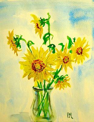 Painting - Baby Sunflowers by Pete Maier