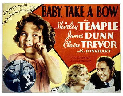 Posth Photograph - Baby Take A Bow, Shirley Temple, Claire by Everett