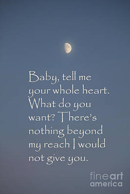 Photograph - Baby Tell Me Your Heart by Donna L Munro