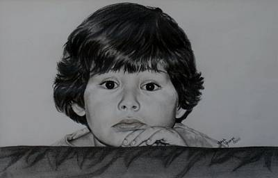 Candid Drawing - Baby Tired by Gayle  George