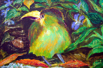 Painting - Baby Toucan Verde by Sarah Hornsby