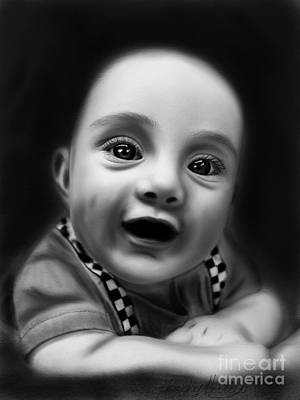 Drawing - Baby Walter by Becky Herrera