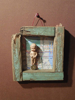 Baby With No Feet Standing On A Subway Token Original by Jim Ramirez