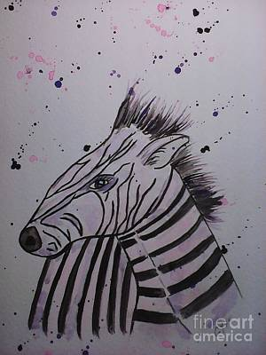 Painting - Baby Zebra by Ginny Youngblood