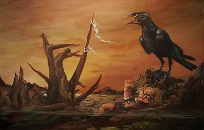 Creepy Painting - Babydoll by Tom Shropshire