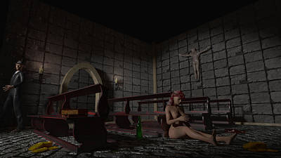 Prostitution Digital Art - Babylon She Has Fallen by Brainwave Pictures