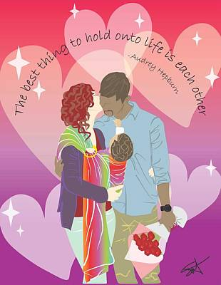 Sling Drawing - Babywearing Hold On To Love by Parenthood Art Designs