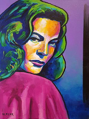 Lauren Bacall Painting - Bacall by Stuart Glazer