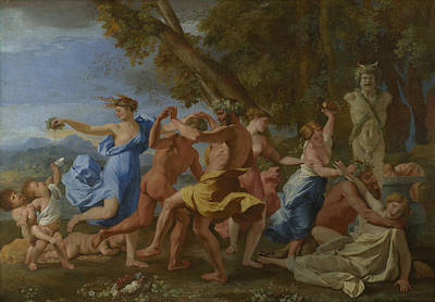 Painting - Bacchanal Before A Statue Of Pan by Nicolas Poussin