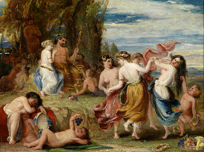 Orgy Painting - Bacchanal by William Salter