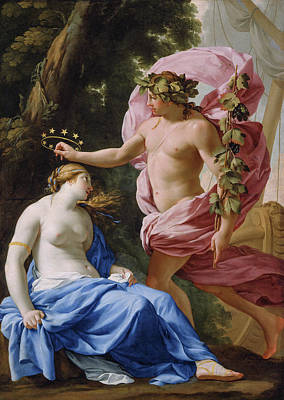 Winemaking Painting - Bacchus And Ariadne by Eustache Le Sueur