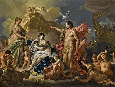 Painting - Bacchus And Ariadne by Francesco Solimena