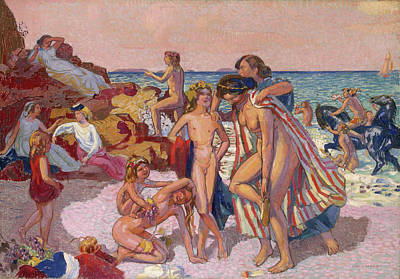 Fertility Painting - Bacchus And Ariadne by Maurice Denis