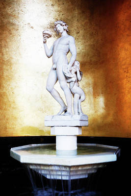 Photograph - Bacchus God Statue by Marilyn Hunt