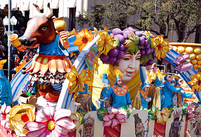Photograph - Bacchus Mardis Gras Float by Carol M Highsmith