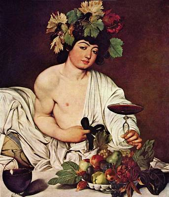 Painting - Bacchus by Michelangelo Caravaggio