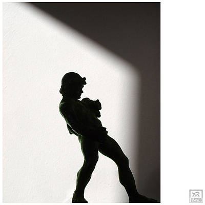 Photograph - Bacchus Statuette Shadow Silhouette by Stan  Magnan