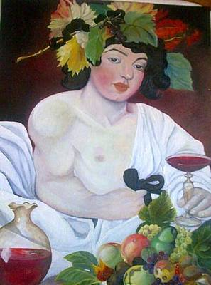 Painting - Baccus by Asia Dzhibirova
