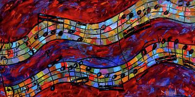 Painting - Bach Invention Ix by Debra Hurd