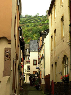 Photograph - Bacharach Village Street by Nancy Merkle