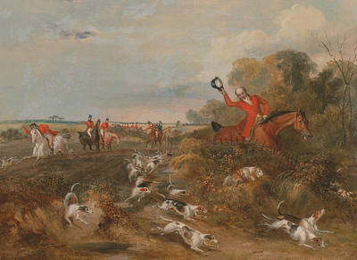 Painting - Bachelor's Hall - Capping On Hounds  by Francis Calcraft Turner