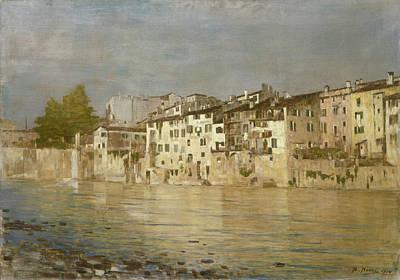 Italian Landscape Painting - Bacio Di Sole A Verona by Bartolomeo Bezzi