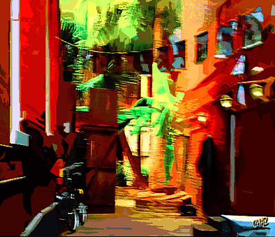 Painting - Back Alley 2 by CHAZ Daugherty