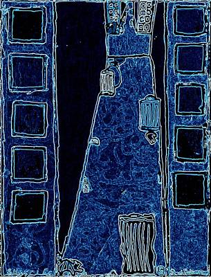 Ghetto Mixed Media - Back Alley Murder Blue by Sheri Buchheit