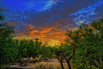 Mark Myhaver Rights Managed Images - Back Alley Sunset op36 Royalty-Free Image by Mark Myhaver