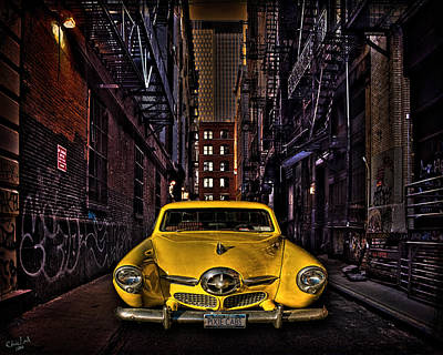 Photograph - Back Alley Taxi Cab by Chris Lord