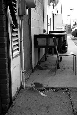 Back Alley View Print by Pam Walker