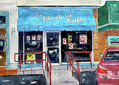 Painting - Back At The Bluebird by Tim Ross