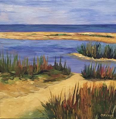 Back Bay Beach Art Print