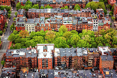 Townhouse Photograph - Back Bay Boston  by Carol Japp
