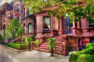 Photograph - Back Bay Boston Row Houses  by Joann Vitali