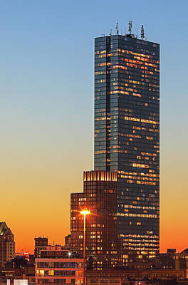 Photograph - Back Bay Boston Sunset by Juergen Roth