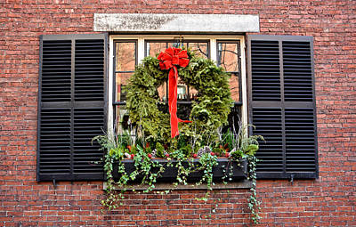 Photograph - Back Bay Holiday Wreath by Mike Martin