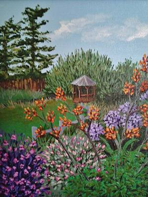 Painting - Back Bay Inn Garden Gazebo  by Katherine Young-Beck