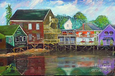 Painting - Back Bay Kennebunkport by Francois Lamothe