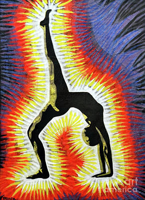 Painting - Yoga Back-bend by Brenda Kato
