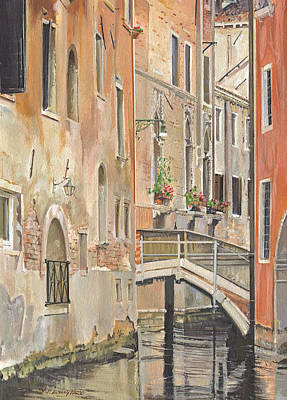 Painting - Back Canals Of Venice by P Anthony Visco
